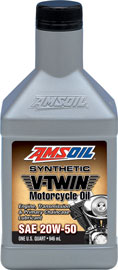 AMSOIL 20W-50 Synthetic V-Twin Motorcycle Oil (MCV) 20W50